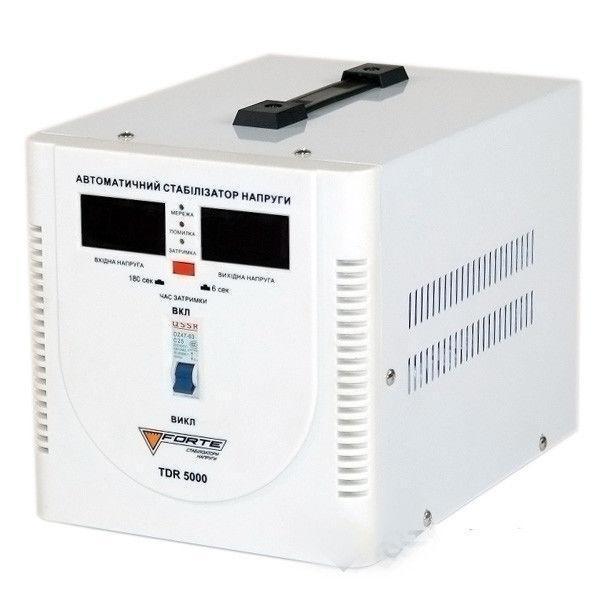 Стабилизатор напряжения Forte TDR 5,0 кВт. Напольный. Цифровой вольтметр