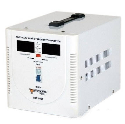Стабилизатор напряжения Forte TDR 5,0 кВт. Напольный. Цифровой вольтметр, фото 2