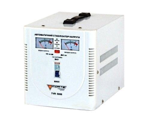 Стабилизатор напряжения Forte TVR 5,0 кВт. Напольный. Аналоговый вольтметр