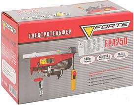 Тельфер электрический Forte FPA 250, фото 2