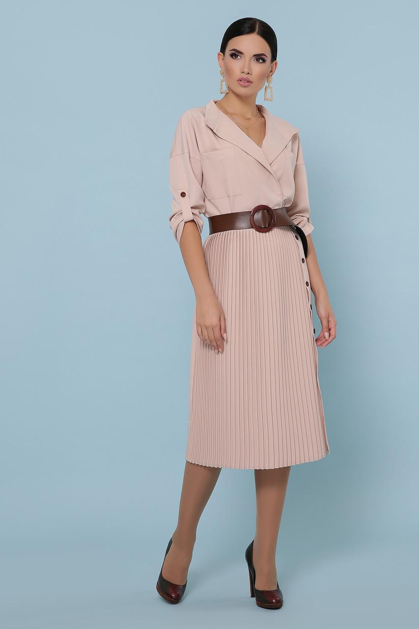 Стильное платье плиссе 42по 48 размер