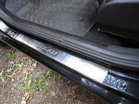 Тюнинг нержавейки пороги Renault Logan 2 Omsa