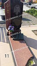 Комбинированный памятник с книгой из гранита