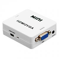 Адаптер конвертер Hdmi to Vga видео аудио Ukc 1080P