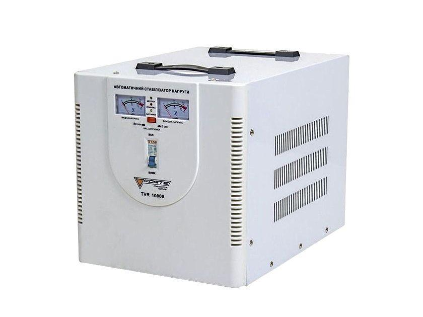 Стабилизатор напряжения Forte TVR 10,0 кВт. Напольный. Аналоговый вольтметр