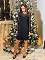 Платье черное К 00547 с 01