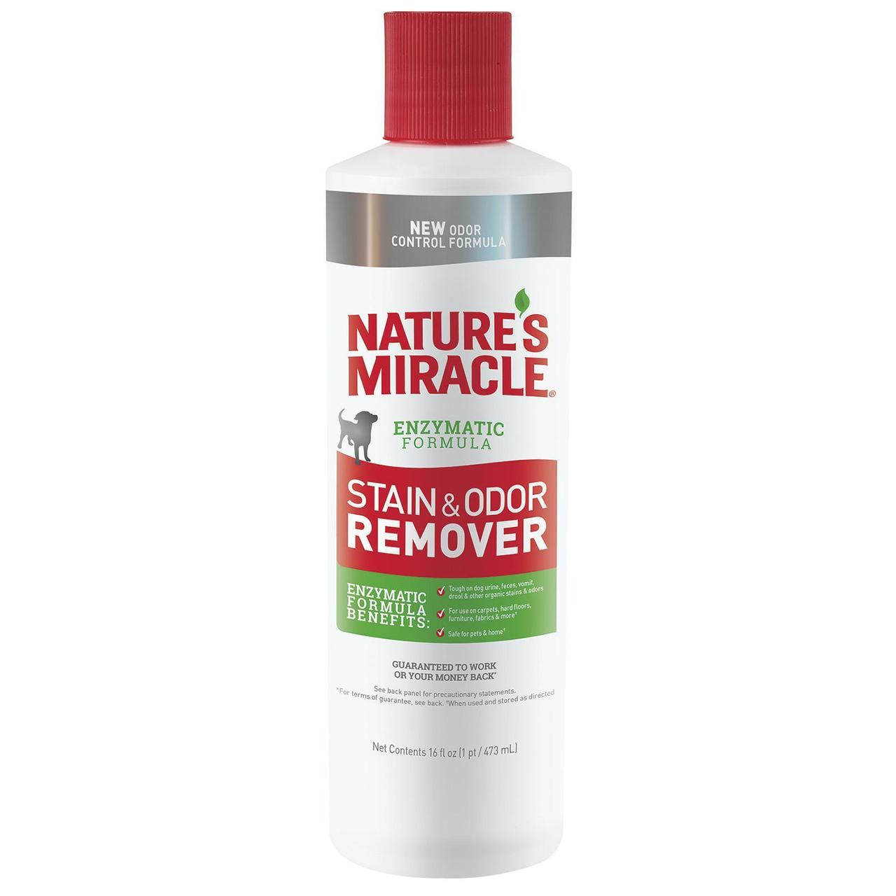 Natures Miracle Dog Stain & Odor Remover 473 мл уничтожитель пятен и запахов от собак