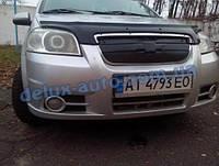 Зимняя решетка глянец на Chevrolet Aveo T250 2005-2011 гг.