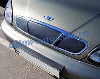 Зимняя накладка матовая на решетку (верхняя) Chevrolet Lanos