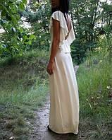 Платье макси крылья без рукавов