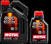 Синтетическое моторное масло Motul Eco-Lite sae 5w-30, фото 1