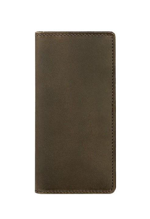 Кошелек-купюрник кожаный коричневый (ручная работа)