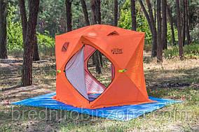 Палатка для зимней рыбалки 2-местная 185х185х195см 9,5 кг FlyCat Ice Cube-2 полуавтомат, стекловолокно