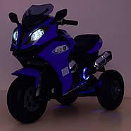 Мотоцикл детский Bambi M 3913EL-4 синий Гарантия качества Быстрая доставка, фото 5
