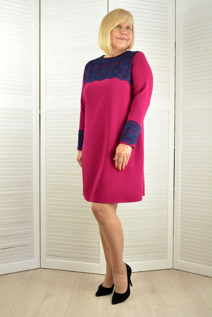 Платье с кружевом - Модель Л480-2 ( 52,54 размеры )