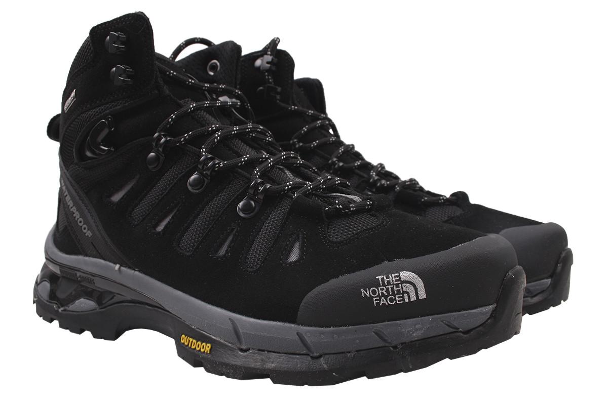 Туфлі чоловічі зимові Noth Face натуральний замш, колір чорний, розмір 40-45