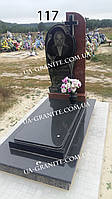 Памятник сучасний комбінований на могилу із гранту