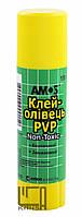 Клей-карандаш Amos PVP основа 15 грамм GSW15