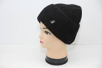 Женская вязаная шапка черного цвета ATRIKS модель WH-719 (19569)