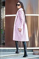 Молодёжная шуба свободного кроя нежно розового цвета  из искусственного кролика с 42 по 50 размер, фото 3