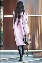 Молодёжная шуба свободного кроя нежно розового цвета  из искусственного кролика с 42 по 50 размер, фото 2
