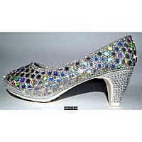 Нарядные, праздничные туфли для девочки 35 размер (23.3 см), на выпускной, утренник, 105-313-18