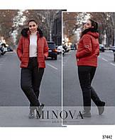 Женский модный, зимний, теплый спортивный костюм - лыжный куртка+штаны больших размеров р-50,52,54,56,58,60,62