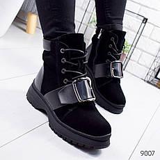 """Ботинки женские зимние, черного цвета из натуральной замши """"9007"""". Черевики жіночі. Ботинки теплые, фото 2"""