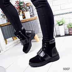 """Ботинки женские зимние, черного цвета из натуральной замши """"9007"""". Черевики жіночі. Ботинки теплые, фото 3"""