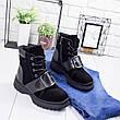 """Ботинки женские зимние, черного цвета из натуральной замши """"9007"""". Черевики жіночі. Ботинки теплые, фото 6"""