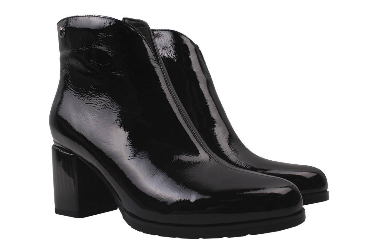 Ботинки женские Brocoli натуральная лаковая кожа, цвет черный, размер 35-40