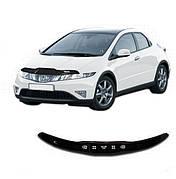 Дефлектор капота  Honda Civic с 2011 хэтчбек, Мухобойка Honda Civic