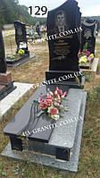 Памятник на могилу сучасний із сірого гранту