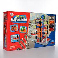 Гараж детский игровой 0848, 4 яруса, 50-49-30см, 4 машинки