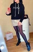 Толстовка женская на флисе. Теплая женская толстовка черного цвета. Женская толстовка с капюшоном