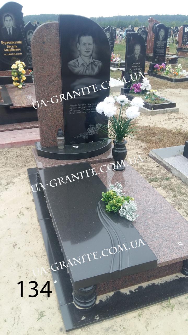 Пам'ятник на могилу для жінки комбінований