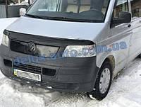 Зимняя матовая с утеплением накладка на решетку на Volkswagen T5 Transporter 2003-2010 гг.