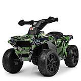 Детский электро квадроцикл M 4207 ELS камуфляж, кож сиденье, фото 9