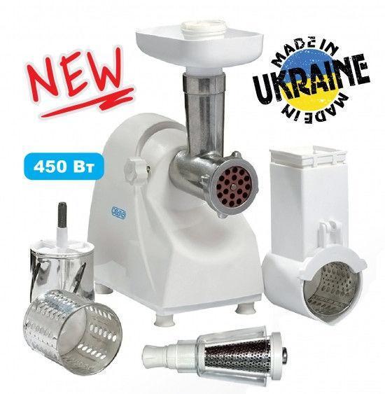 Электрическая мясорубка ЭЛЬВО ЭШМ 450-03 (овощерезка+соковыжималка)