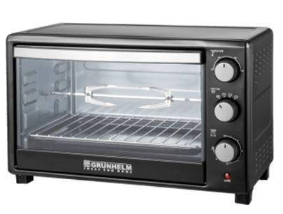 Электрическая печь с грилем Grunhelm GN45ARL (черная), фото 2