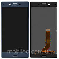 Дисплей (LCD) Sony F8331 Xperia XZ | F8332 тачскрином blue оригинал (PRC)