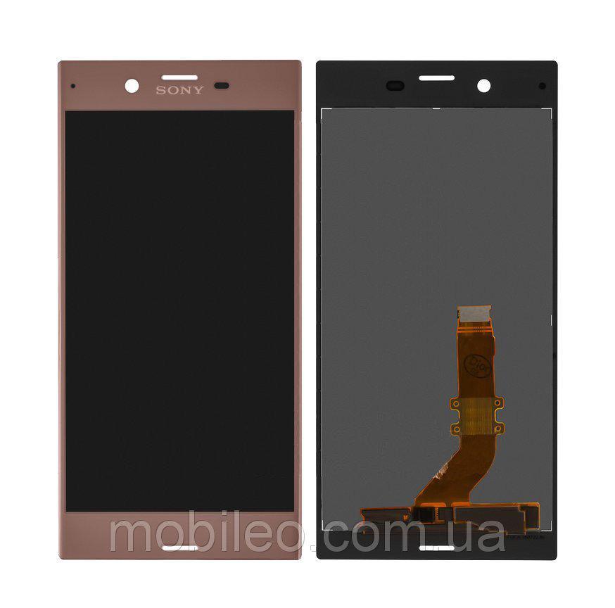 Дисплей (LCD) Sony F8331 Xperia XZ | F8332 тачскрином pink