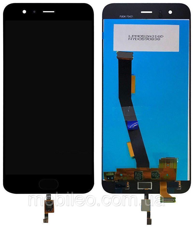 Дисплей (LCD) Xiaomi Mi6 с тачскрином и кнопкой, чёрный оригинал (PRC)