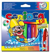 SUPER JUMBO Водосмываемые толстые фломастеры CARIOCA 41946
