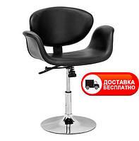 Кресло Студио черная экокожа  подъемный и механизм наклона сиденья