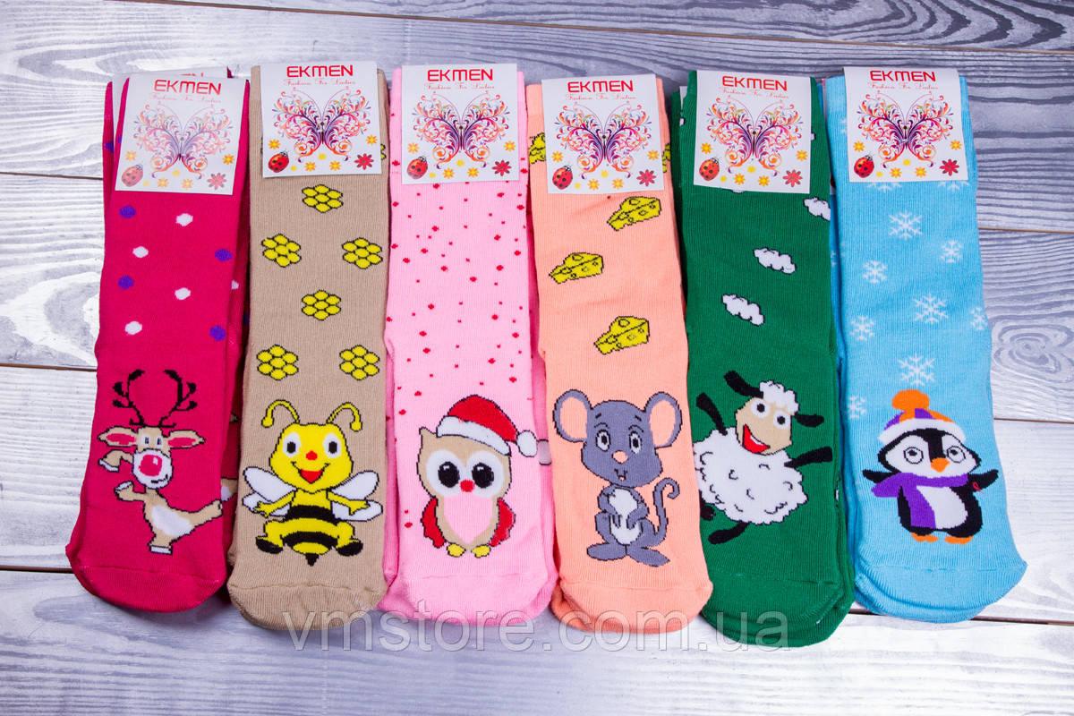 Новогодние носки женские, 12 пар в упаковке, разные цвета