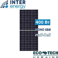 Солнечная панель InterEnergy IE158-72M-H-400W, 5BB, Half Cell, монокристалл