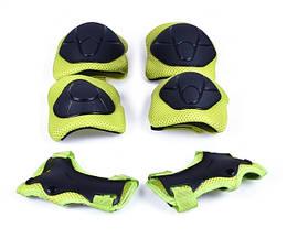 Защита детская FSK M01 (Кисти, локти, колени) (черно-салатный)