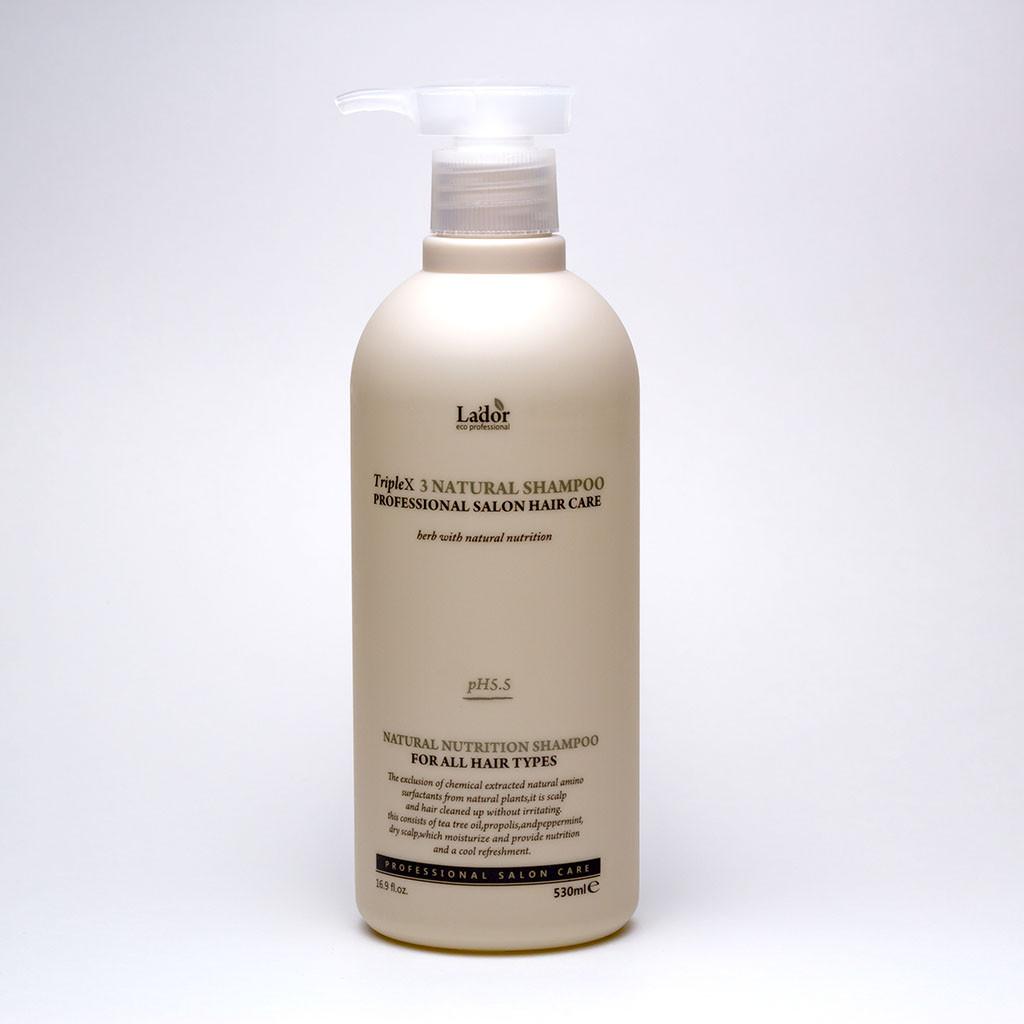Безсульфатный органический шампунь Lador TripleX 3 Natural Shampoo Объем 500 мл