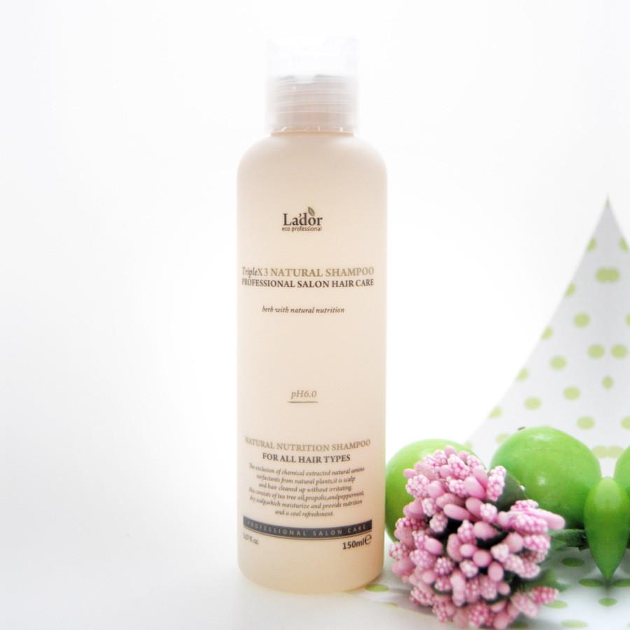 Безсульфатный органический шампунь Lador TripleX 3 Natural Shampoo 150 мл